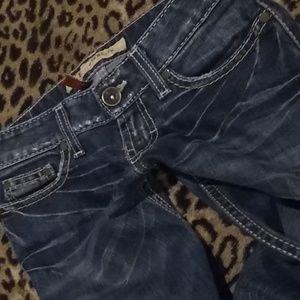 Bke Starlite Stretch Bootcut Jeans Size 23